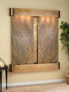 2 panel marble wall fountain