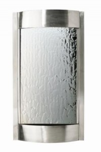 stainless steel wall fountain